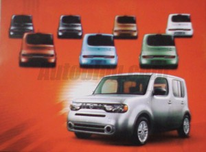 Nissan Cube в брошюре